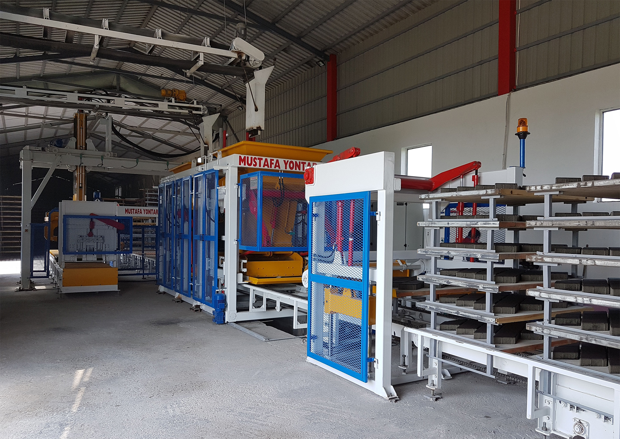 Commissioning of a KPM 1025 Concrete block making machine
