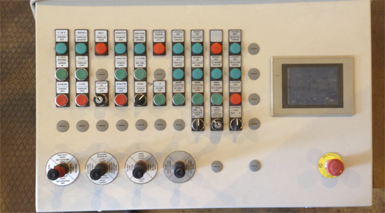 Control panel for the 1025 line